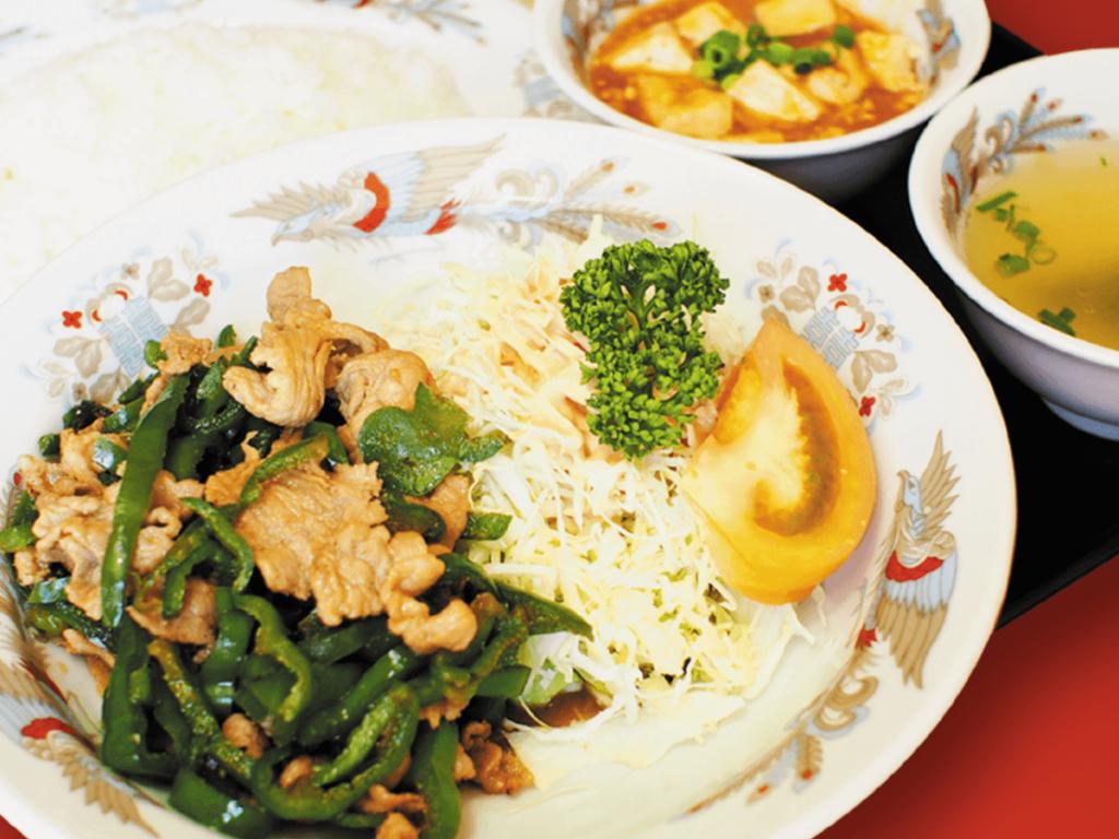 ピーマン肉炒定食