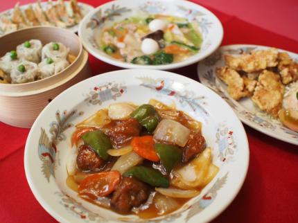 酢豚、飲茶などの宴会メニュー