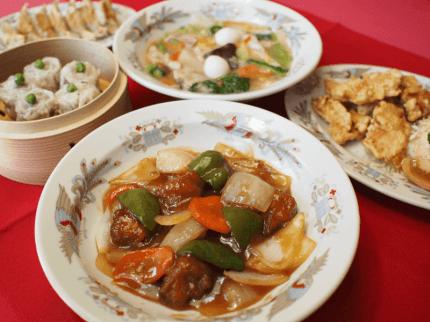 酢豚、焼売、八宝菜などの宴会メニュー